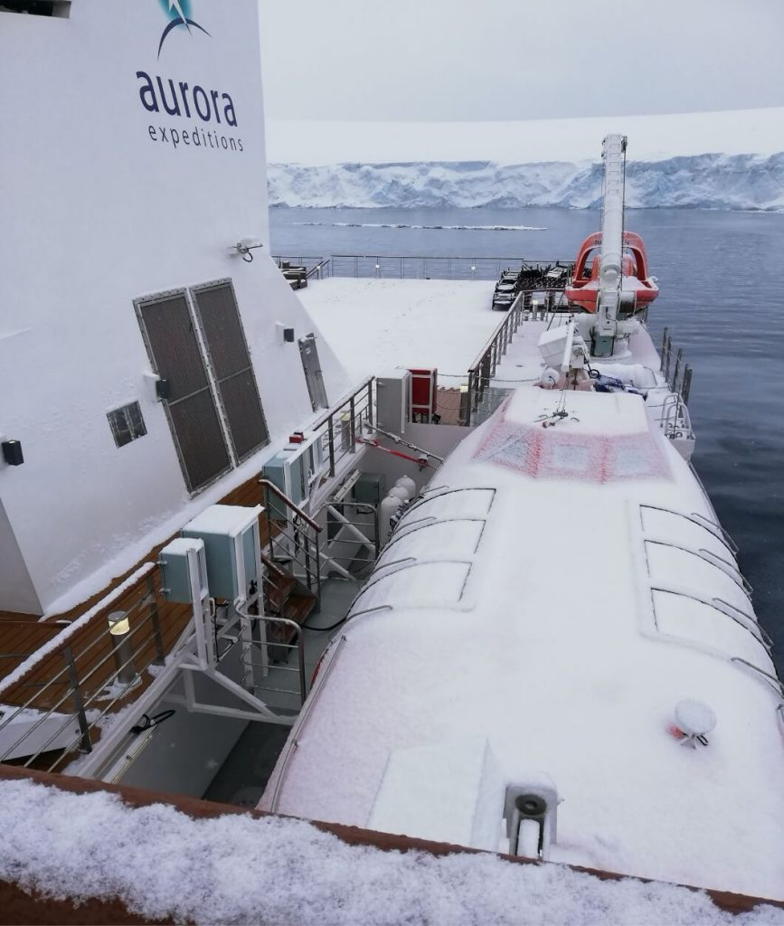 A snowy day in Antarctica