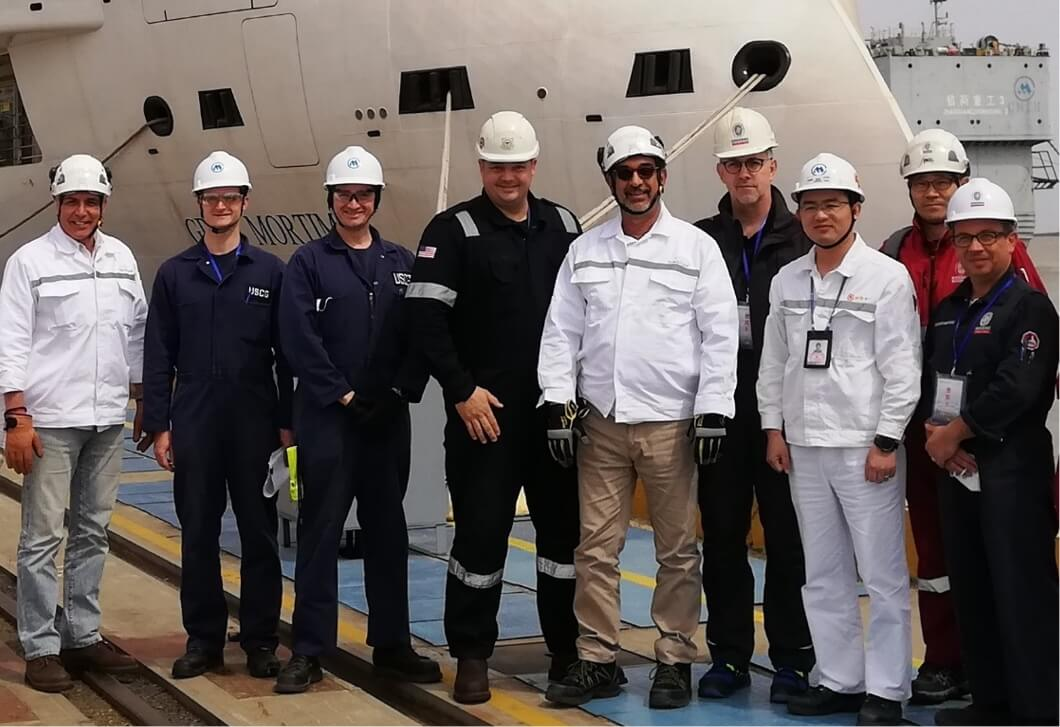 USCG first passenger ship ICOC inspection in China.