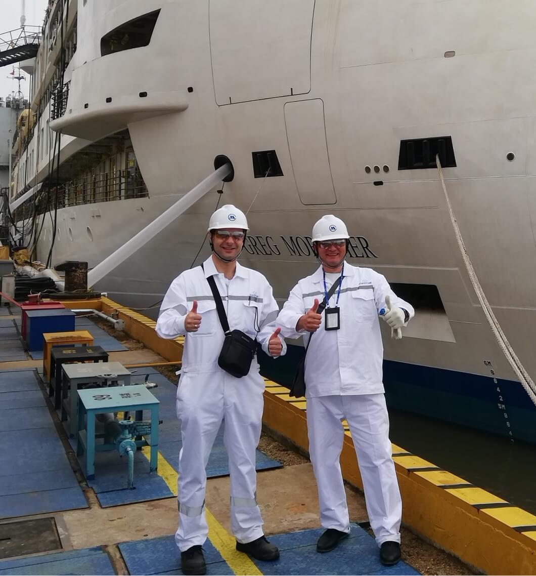 Captain Oleg and Ch/Officer Oleg
